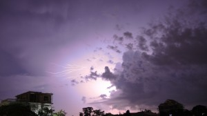"definition of... #Lightning: ""A flash of light produced by short-duration, high-voltage discharge of electricity within a cloud, between clouds, or between a cloud and the earth."" //: or simple: OVERWHELMING. ://"